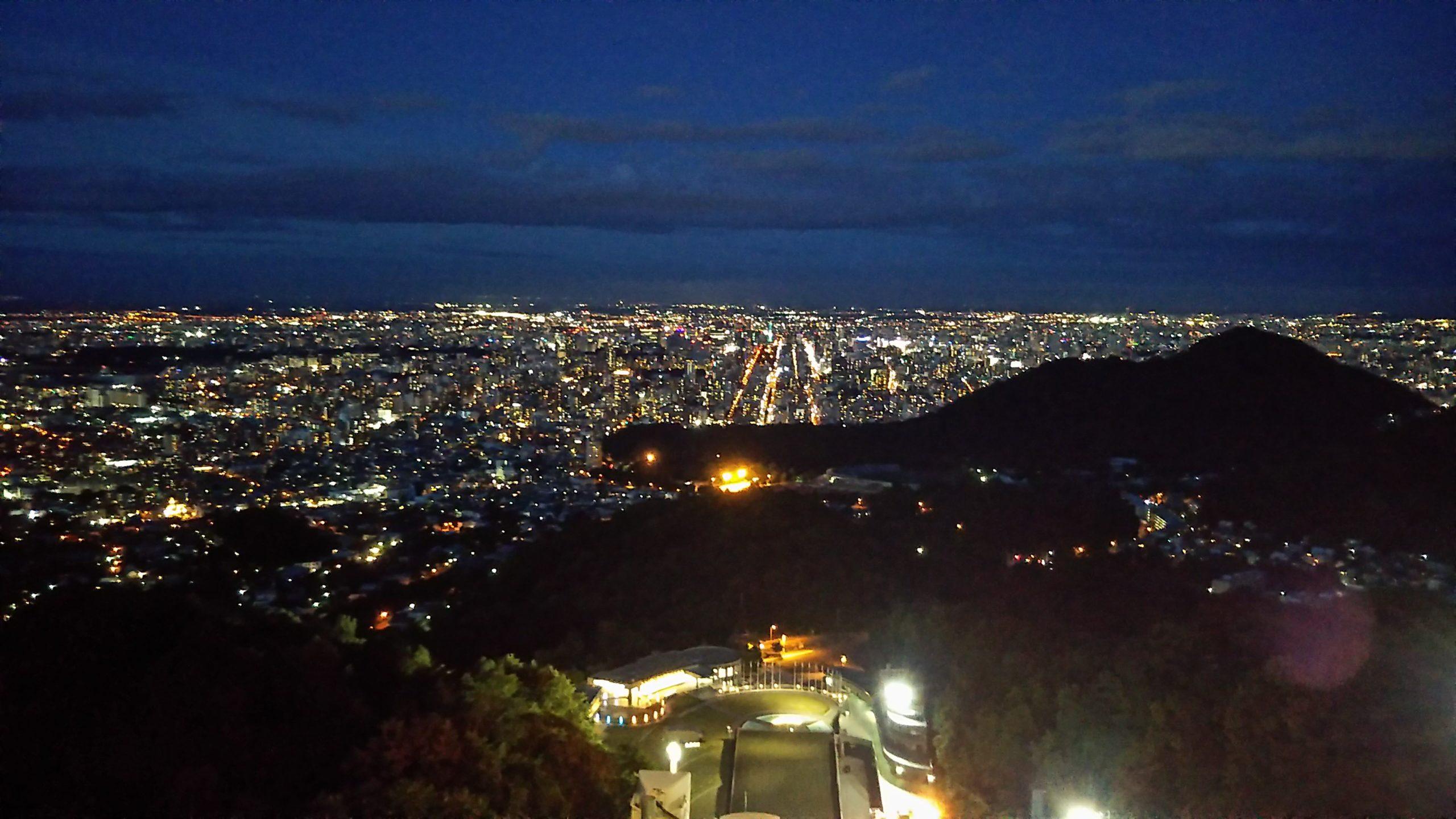 大倉山から見た札幌の夜景